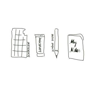 wohlfühlen mit Stift und Notizbuch